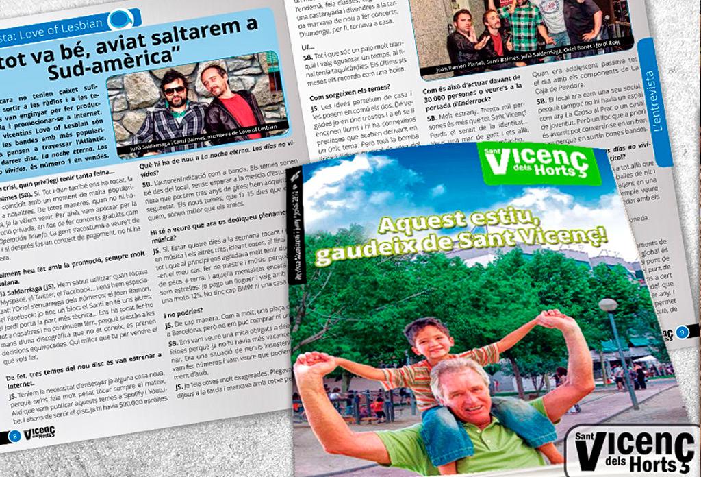 Disseny i maquetació revista municipal