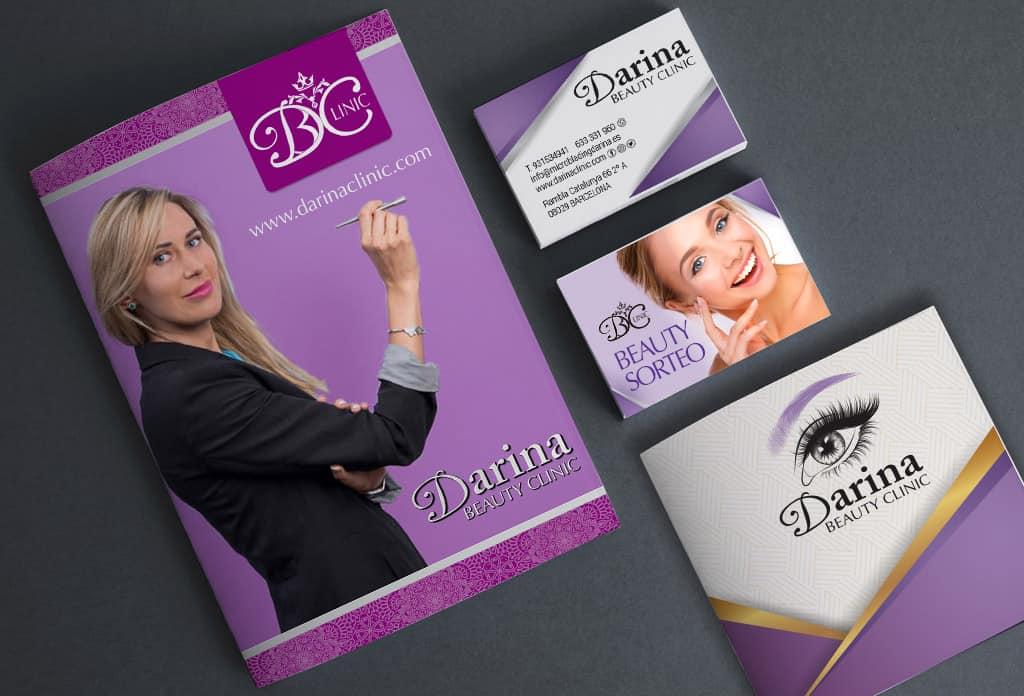 Creació de marca i imatge corporativa de Darina Beauty Clinic